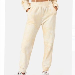 Adika Yellow Tie Dye Sweatpants
